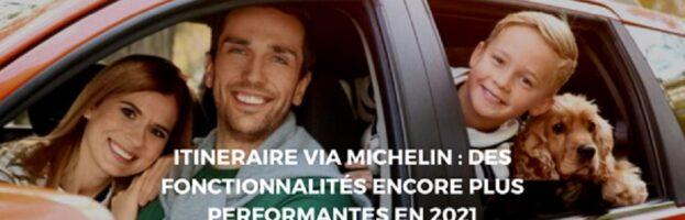 Calculer son meilleur itinéraire de trajet Via Michelin
